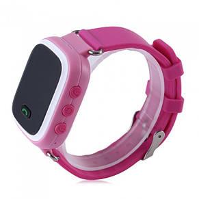 Детские умные телефон-часы с GPS трекером UWatch Q60 розовые, фото 3