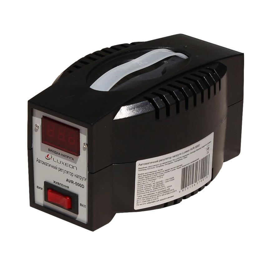 Стабілізатор напруги 350Вт 140-260В Luxeon AVR-500D Чорний