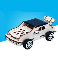 Автомобіль на сонячній енергії - дерев'яний конструктор - саморобка