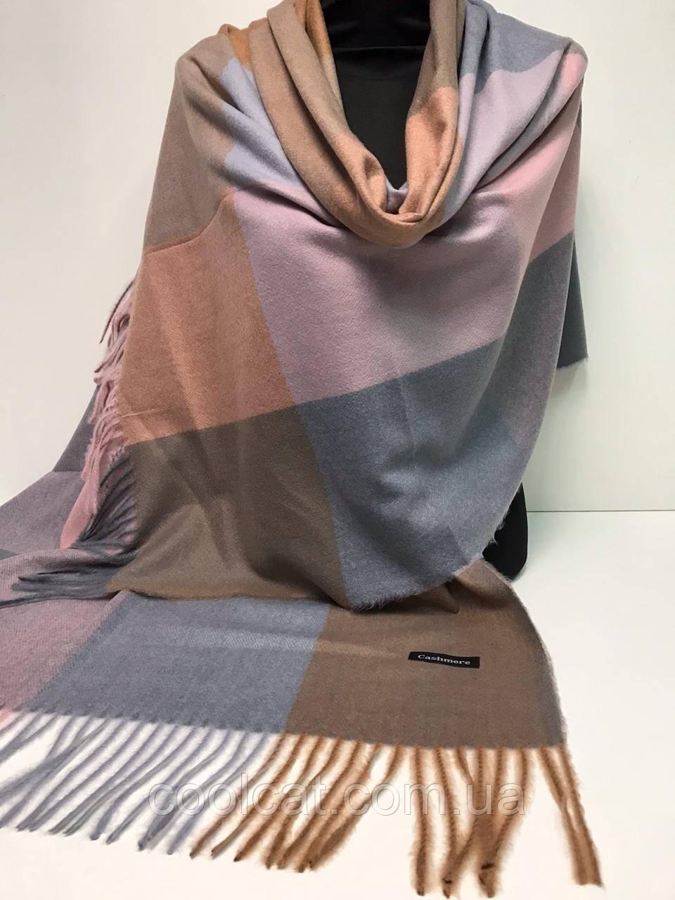 Кашемировый теплый платок Cashmere / Женский теплый шарф