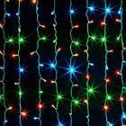 Гирлянда штора водопад светодиодная, 400 LED, Мультицветная, прозрачный провод, 3х3м., фото 5
