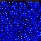 Гірлянда штора водоспад світлодіодна, 400 LED, Блакитна (Синя), прозорий провід, 3х3м., фото 5