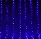 Гірлянда штора водоспад світлодіодна, 400 LED, Блакитна (Синя), прозорий провід, 3х3м., фото 7