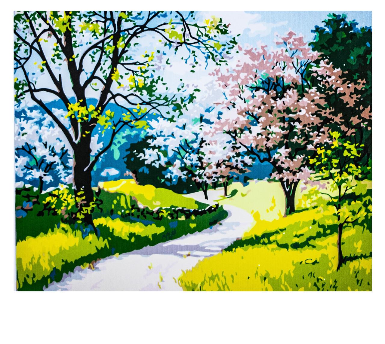 Картина по номерам Весна, размер 40х50