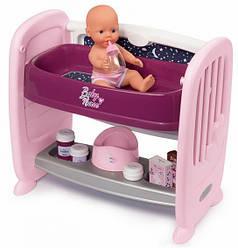 Игрушечная кроватка 2в1 с пелинатором и куклой Baby Nurse Smoby 220353