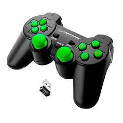 Геймпад бездротовий USB Esperanza Gladiator (EGG108G) Black/Green