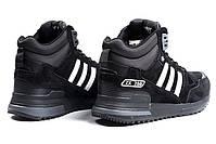 Мужские зимние кроссовки Adidas ZX 750 высокие на меху, фото 6