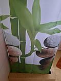 Штори на ванну кімнату розсувні 240х200 см Тропік з прийняте бамбук, фото 2