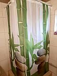 Штори на ванну кімнату розсувні 240х200 см Тропік з прийняте бамбук, фото 3