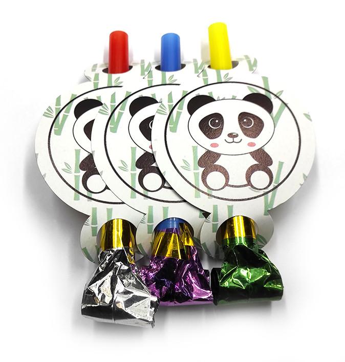 """Язычок-гудок  """" Панда """" , 6 шт. в уп."""