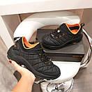 Мужские кроссовки Merrell Vibram Black Orange / Мэррелл Вибрам Чернные Оранжевые Термо, фото 2