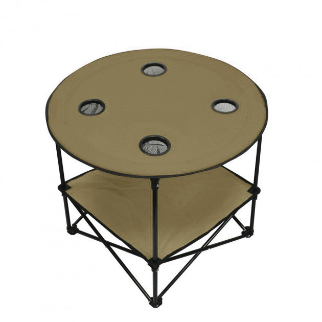 Стол туристический Паук HLV R28859 70х60 см Brown