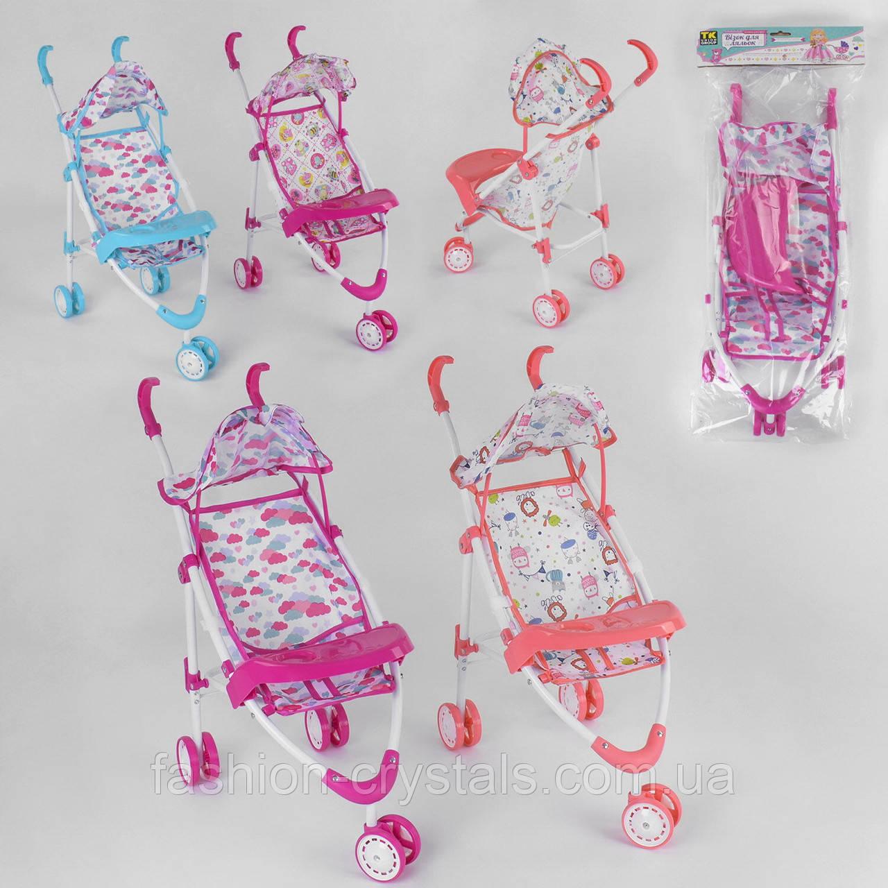 Детская прогулочная коляска для кукол 2025