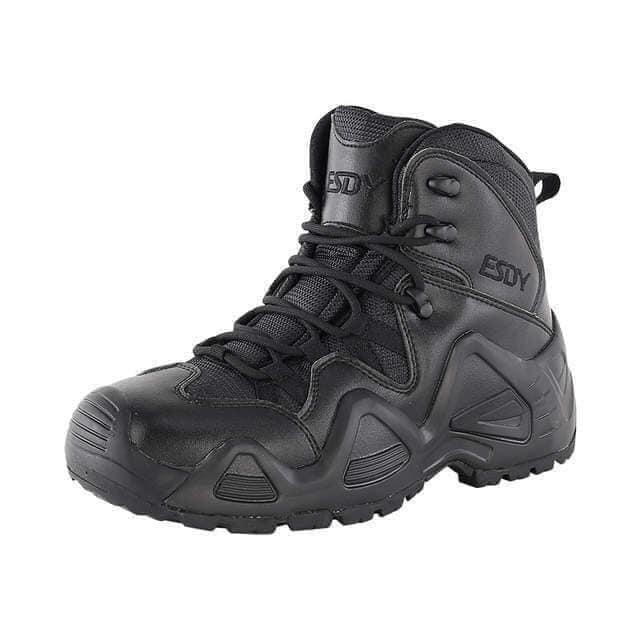 Заниженные ботинки тактические на мембране реплика ESDY Alligator черные