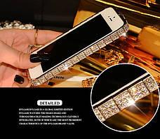 Бампер металлический со стразами Snake для iPhone 5 5S