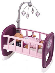 Колыбель Baby Nurse Прованс с мобилем 47 см. Smoby 220343