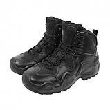 Заниженные ботинки тактические на мембране реплика ESDY Alligator черные, фото 3