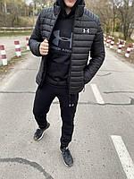 Куртка мужская зимняя Under Armour до -25*С черная   пуховик мужской зимний Андер Армор черная ЛЮКС качества