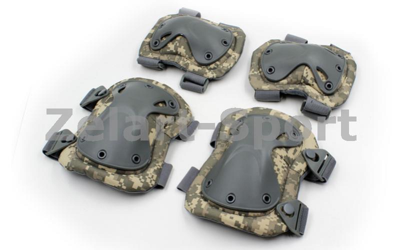 Защита тактическая наколенники, налокотники  (ABS, полиэстер 600D, оливковый) - ADX.IN.UA в Одессе