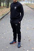 Теплый зимний спортивный костюм Reebok черного цвета Польша