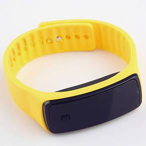Электронные наручные часы LTL Led на силиконовом браслете yellow, фото 2