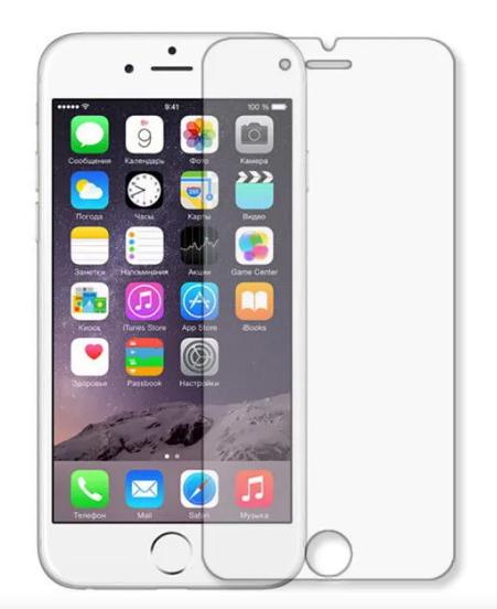 Гідрогелева захисна плівка на iPhone 6 на весь екран прозора