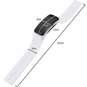 Электронные наручные часы LTL Led на силиконовом браслете white, фото 2