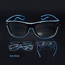 Очки NEON  прозрачные El Neon ray ice blue + Часы, фото 2