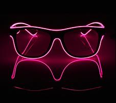 Очки NEON  прозрачные El Neon pink + Часы, фото 3