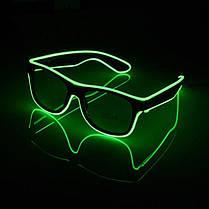 Очки NEON  прозрачные El Neon ray green + Часы, фото 3