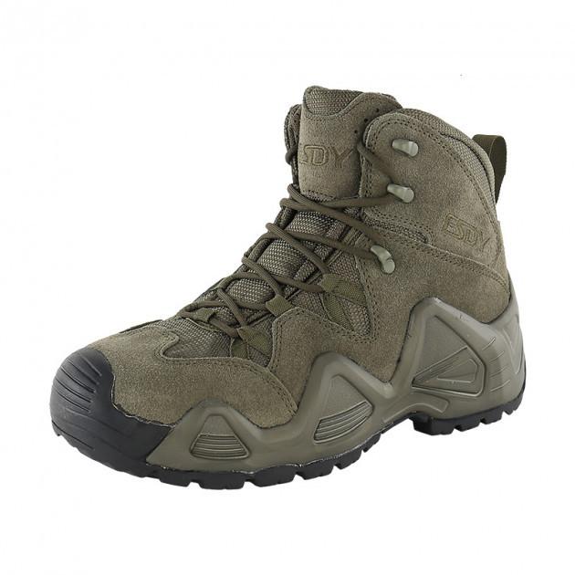 Заниженные ботинки тактические на мембране реплика ESDY Alligator олива