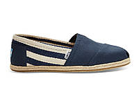 Женские TOMS Navy Stripe Univeristy Women's Classics, фото 1