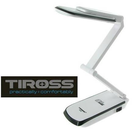 Настольная светодиодная лампа трансформер Tiross TS-56 Black аккумуляторная 2000 mAh, 220v, 32 smd LED, фото 2
