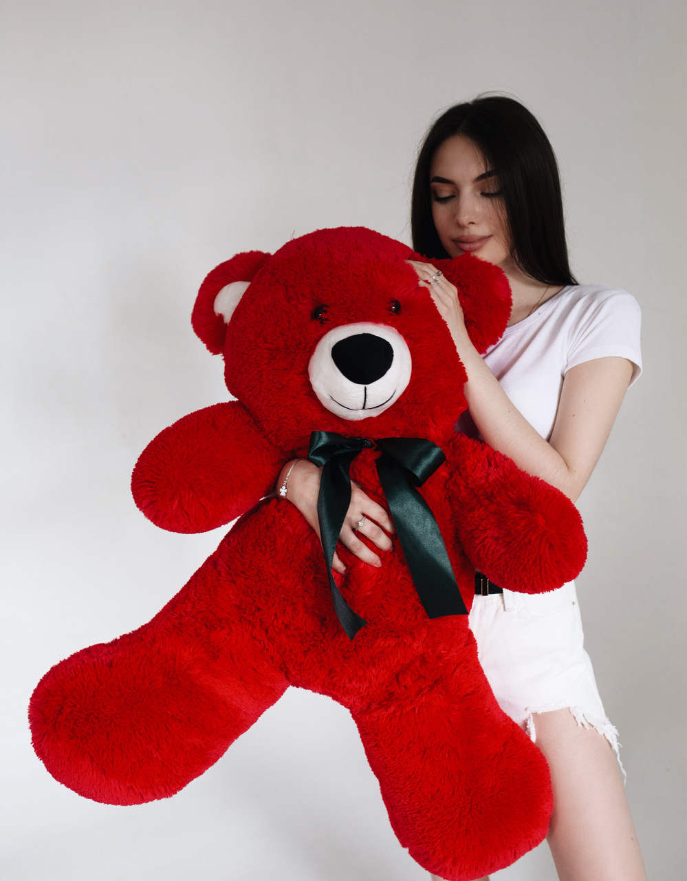 Плюшевий Ведмедик Червоний 120см