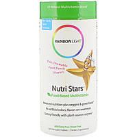Мультивитамины На Основе Пищевых Продуктов, Nutri Stars, Rainbow Light, С Фруктовым Вкусом, 120 жевательных