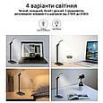 Настольная лампа Promate AuraLight-1 500 lm, 10 W беспроводная зарядка, 2.5 W USB Black, фото 3