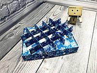 *10 шт* / Перегородка для конфет / 150х200х30 мм / 20 ячеек / Маленьк /  печать-Снег.Син / НГ, фото 1