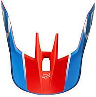 Козырек для мото шлема FOX MX19 V3 HELMET VISOR - KILA [BLU/RD], L/XL
