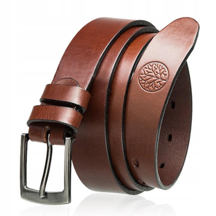 Ремінь чоловічий шкіряний Betlewski® 2,9 х 0,4 (LIC30-0) - коричневий