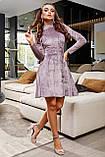 1651/7 Модное женское велюровое платье разные цвета, фото 2