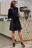 1651/7 Модное женское велюровое платье разные цвета, фото 10