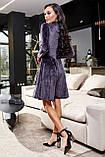 1651/7 Модное женское велюровое платье разные цвета, фото 8