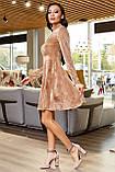 1651/7 Модное женское велюровое платье разные цвета, фото 6