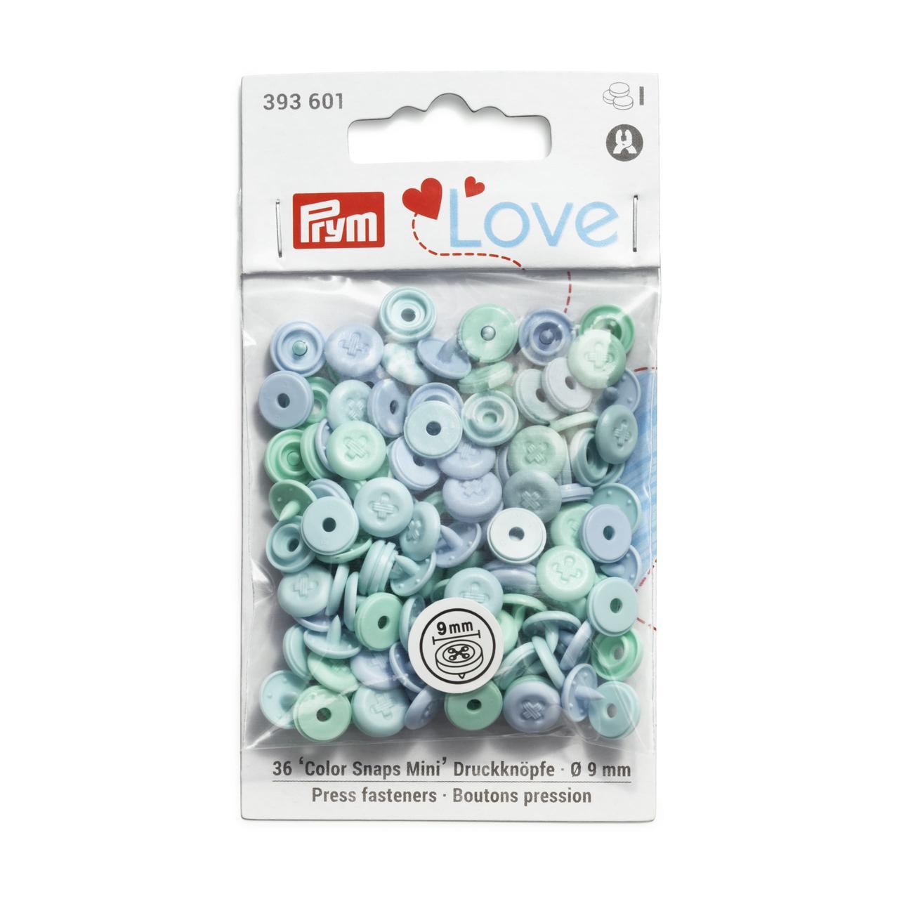 Непришивные кнопки «Color Snaps Mini», 9 мм, с имитацией стежка Prym Love 393601