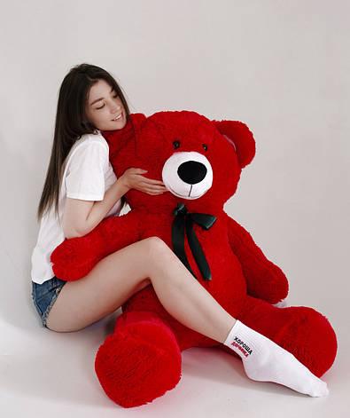 Плюшевий Ведмедик Червоний 160см (Версія Limited), фото 2
