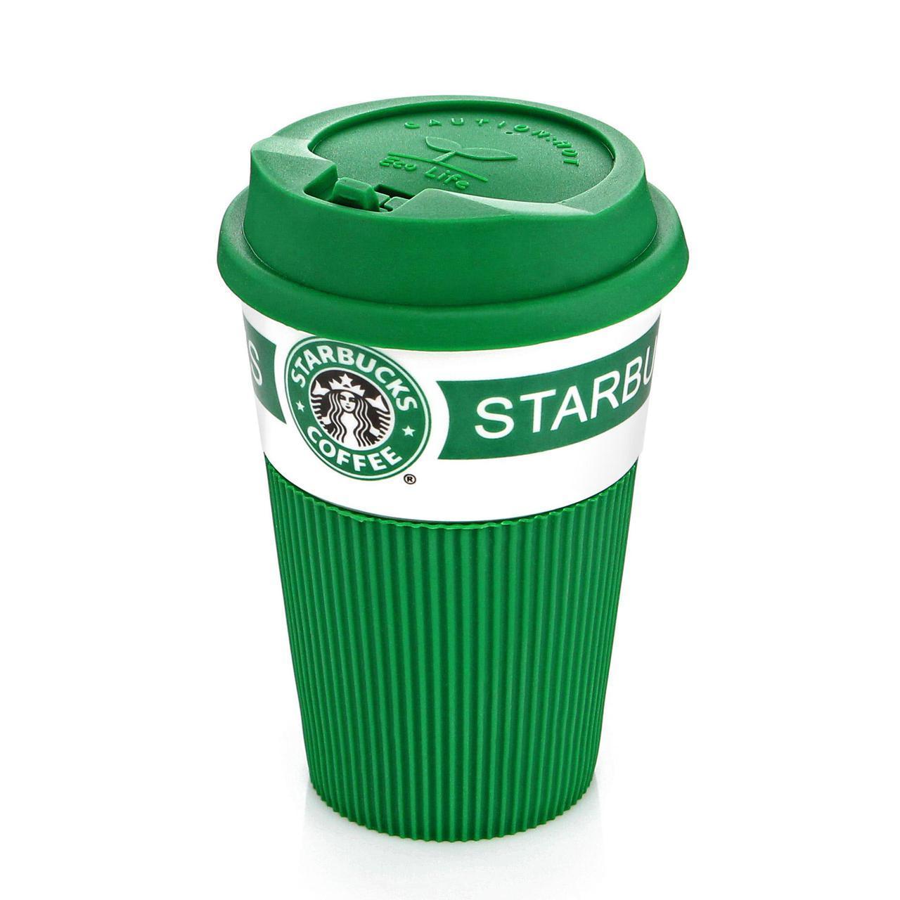 Саме То / Термокружка Starbucks Старбакс керамическая термочашка, Зеленая, кружка, Термокружки