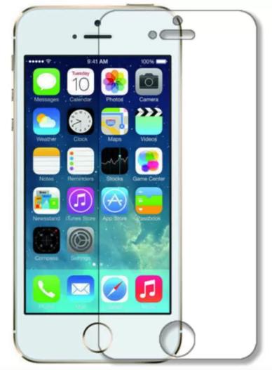Гидрогелевая защитная пленка на iPhone 5s на весь экран прозрачная