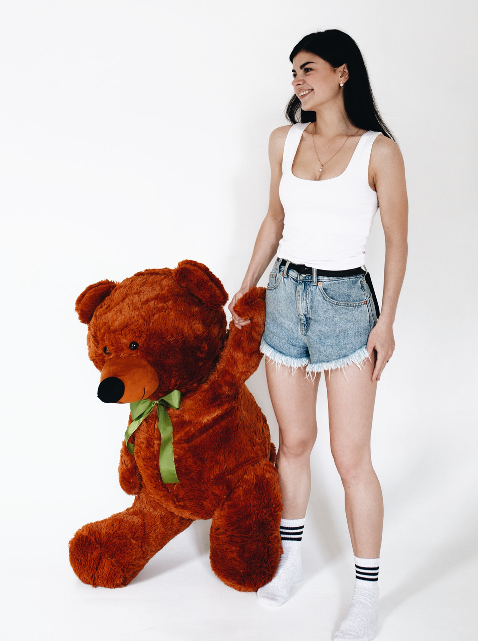 Плюшевий Ведмедик Коричневий 120см