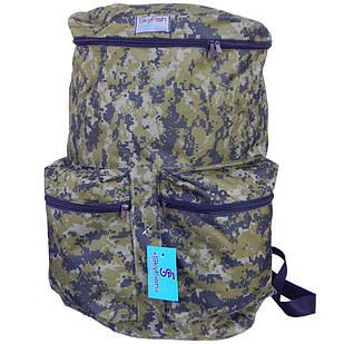 Рюкзак для рыбалки и охоты SkyFish 60 л большой водонепроницаемый Мультикам