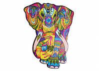 Пазл фигурный Слон от Wood trick. Уникальный деревянный подарочный пазл Слон (опт, дропшиппинг).